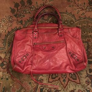 Balenciaga Classic Work Bag Pourpre Red